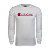 White Long Sleeve T Shirt-University Logo