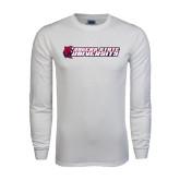 White Long Sleeve T Shirt-University Logo