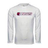 Performance White Longsleeve Shirt-University Logo