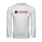 Syntrel Performance White Longsleeve Shirt-University Logo