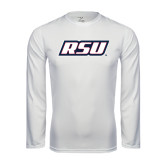 Performance White Longsleeve Shirt-RSU