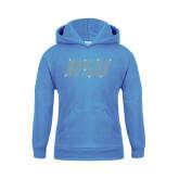 Youth Light Blue Fleece Hoodie-RSU Rhinestones