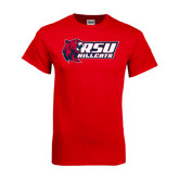 Red T Shirt-Stacked Combination Logo