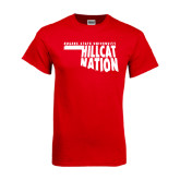 Red T Shirt-Hillcat Nation