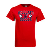 Red T Shirt-Hillcats Soccer Stacked
