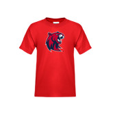 Youth Red T Shirt-Official Logo