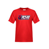 Youth Red T Shirt-Cheerleading
