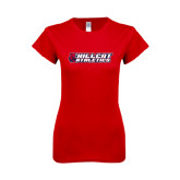 Next Level Ladies SoftStyle Junior Fitted Red Tee-Hillcat Athletics