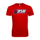 SoftStyle Red T Shirt-Stacked Combination Logo