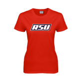 Ladies Red T Shirt-RSU