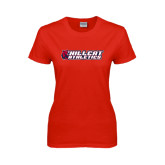 Ladies Red T Shirt-Hillcat Athletics