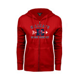 ENZA Ladies Red Fleece Full Zip Hoodie-Cross Country XC