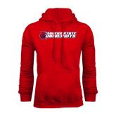 Red Fleece Hoodie-University Logo
