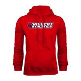 Red Fleece Hoodie-Hillcat Athletics