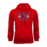 Red Fleece Hoodie-Hillcats Soccer Stacked