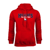 Red Fleece Hood-Hillcats Track & Field Stacked