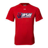 Under Armour Red Tech Tee-Stacked Combination Logo