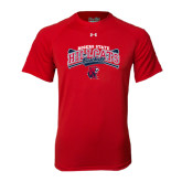 Under Armour Red Tech Tee-Baseball Crossed Bats