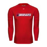 Under Armour Red Long Sleeve Tech Tee-University Logo