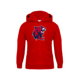 Youth Red Fleece Hoodie-Official Logo
