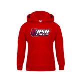 Youth Red Fleece Hoodie-Cheerleading