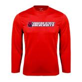 Syntrel Performance Red Longsleeve Shirt-University Logo