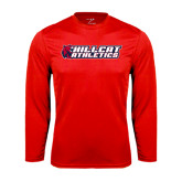 Performance Red Longsleeve Shirt-Hillcat Athletics