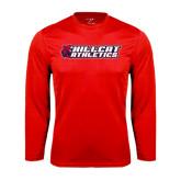 Syntrel Performance Red Longsleeve Shirt-Hillcat Athletics