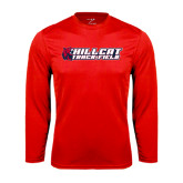 Performance Red Longsleeve Shirt-Track & Field