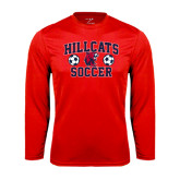 Performance Red Longsleeve Shirt-Hillcats Soccer Stacked