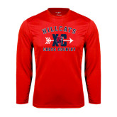 Syntrel Performance Red Longsleeve Shirt-Cross Country XC