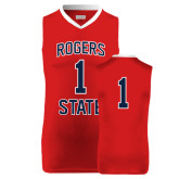 Replica Red Adult Basketball Jersey-#1