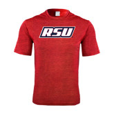Performance Red Heather Contender Tee-RSU
