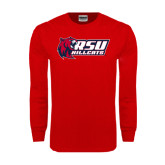 Red Long Sleeve T Shirt-Stacked Combination Logo