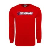 Red Long Sleeve T Shirt-University Logo