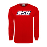 Red Long Sleeve T Shirt-RSU