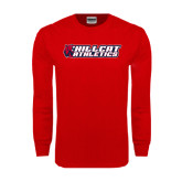 Red Long Sleeve T Shirt-Hillcat Athletics