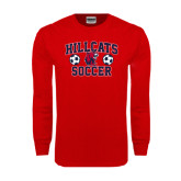 Red Long Sleeve T Shirt-Hillcats Soccer Stacked