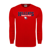 Red Long Sleeve T Shirt-Hillcats Track & Field Stacked