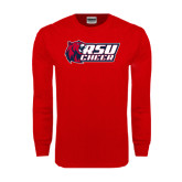 Red Long Sleeve T Shirt-Cheerleading