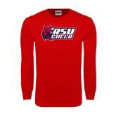 Red Long Sleeve T Shirt-Cheerleading