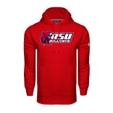 Under Armour Red Performance Sweats Team Hoodie-Stacked Combination Logo