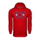 Under Armour Red Performance Sweats Team Hoodie-Hillcats Soccer Stacked