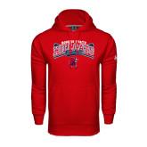Under Armour Red Performance Sweats Team Hoodie-Baseball Crossed Bats