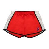 Ladies Red/White Team Short-Official Logo