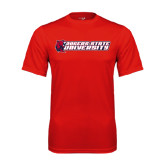 Performance Red Tee-University Logo