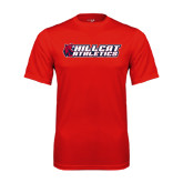 Performance Red Tee-Hillcat Athletics