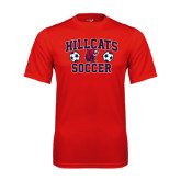 Performance Red Tee-Hillcats Soccer Stacked