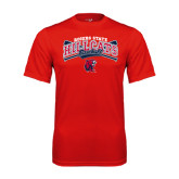 Performance Red Tee-Baseball Crossed Bats