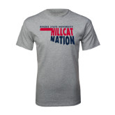 Grey T Shirt-Hillcat Nation